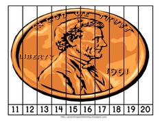 Presidents Day Number Order and Skip Counting Puzzles - Freebies