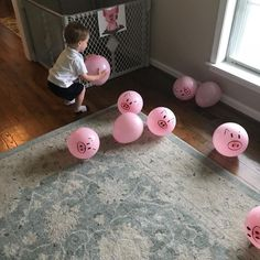 toddler gross motor Put the Pigs in the Pen Im always talking about working on fine motor skills but gross motor skills are just as important! Here is an easy fun activity that will keep your little one busy for a while! Toddler Play, Toddler Learning, Toddler Crafts, Crafts For Kids, Toddler Games, Farm Crafts, Sensory Activities, Infant Activities, Activities For Kids
