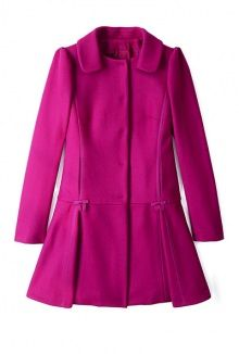 Pleated Flare Coat by Red Valentino