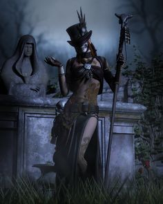 Voodoo Priestess by torgan-art on deviantART