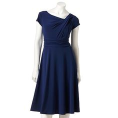 Jessica Howard Pintuck Ruched Dress