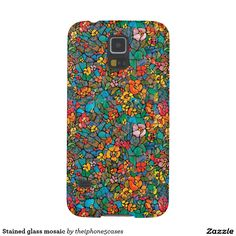 Stained glass mosaic galaxy s5 covers