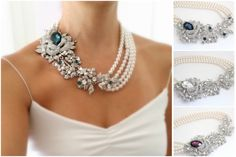 Chunky Statement Necklace Bridal Statement Necklace Pearl