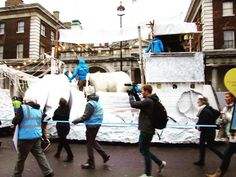 #greenpeaceuk #float #marchofthepolarbears #peoplesmarch #climatemarch  #london by bluewilsonartist