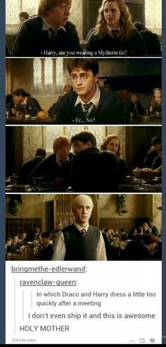Not a drarry shipper but this cracked me up.