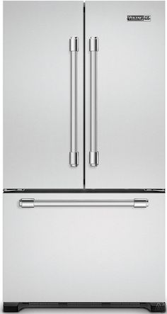 Viking RDDFF236SS 21.8 cu. ft. Counter-Depth French Door Refrigerator with Spill-Proof Glass Shelves, Humidity Zone Drawers, Internal Water Dispenser and Tri-Level Freezer Drawer