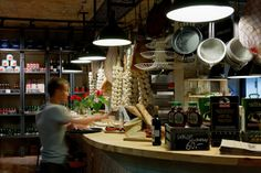 AïOLI Cantine Bar Café Deli by A+D Retail Store Design from Warsaw