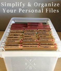 Simplify and Organize Your Personal Reference Files // SimplyFabulousLiving.com