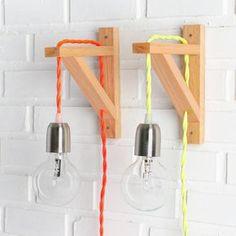 DIY Lampe: 76 super coole Bastelideen dazu simple and colorful Lamp Design, Lighting Design, Diy Bedroom Decor, Diy Home Decor, Garderobe Design, Luminaria Diy, Decoration Inspiration, Wooden Lamp, Lamp Light