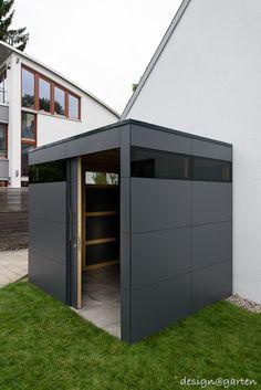 Design Gartenhaus gart wood in München by designgarten Augsburg Germa… Backyard Storage Sheds, Garden Tool Storage, Backyard Sheds, Shed Storage, Garden Tools, Terrace Design, Garden Design, House Design, Modern Backyard Design