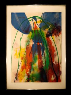 PAUL JENKINS / AMERICAN (1923-2012) 'Earth Day' Color Lithograph 1971 Abstract  #Abstract