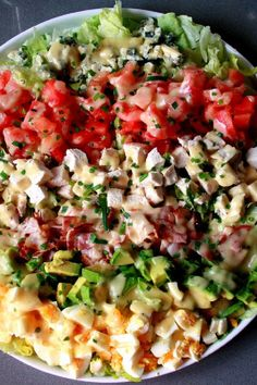 Cobb Salad with Chicken, Bacon, Avocado & Ranch Dressing Recipe