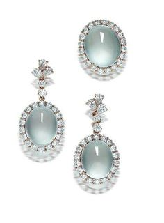 A jadeite and diamond ring and earring suite | Saved for Future Outfits in Gabrielle's Amazing Fantasy Closet