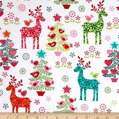 Cream Beige RARE FQ Fat Quarter Fabric Christmas Snowflakes 100/% Cotton Quilting