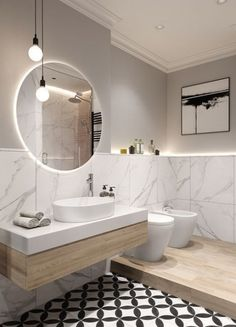 The most interesting about having a modern bathroom is on its simplicity without losing its function. Here, we want to share with you 10 modern bathroom design ideas which will inspire to remodel your old-fashioned bathroom. Modern Bathroom Design, Bathroom Interior Design, Modern Interior Design, Bath Design, Modern Bathrooms, Modern Interiors, Dream Bathrooms, Interior Ideas, Design Apartment
