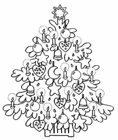 Pattern Coloring Pages, Colouring Pages, Coloring Pages For Kids, Coloring Books, Colorful Christmas Tree, Christmas Colors, Xmas Tree, Christmas Trees, Christmas Countdown Calendar