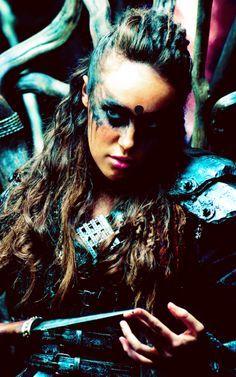 "Alycia Debnam Carey plats Commander Lexa of the Grounders on ""the 100"" CW (2015)"