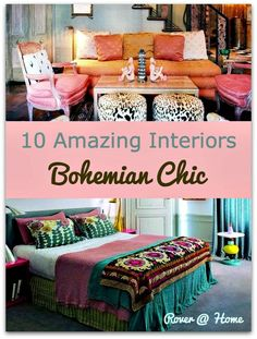 Ten of the Best Bohemian Bedrooms, Living Rooms and Kitchens. Boho Chic Interior Design.