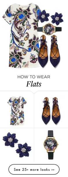 """Untitled set #47"" by yooyoonji on Polyvore featuring Mary Katrantzou, Aquazzura and Olivia Burton"