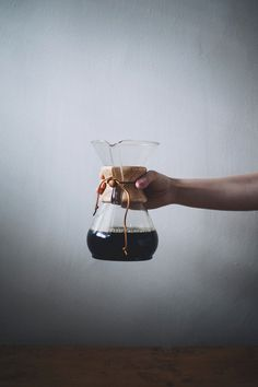 Coffee prepared in a Chemex - a 1950's solution to present the cleanest, most flavorful coffee.