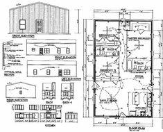 Stock Barndominium floor Plans   Barn Floor Plans   Ready-to-Build Barns Metal Homes Floor Plans, Metal Building House Plans, Unique Floor Plans, House Floor Plans, Pole Barn House Plans, Basement House Plans, Pole Barn Homes, Pole Barns, Painted Brick Ranch
