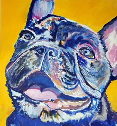French bulldog painting print ,French Bulldog owner gift idea,Frenchie painting,Bulldog Frances, Frenchie picture Bulldog… #dogs #etsy #art