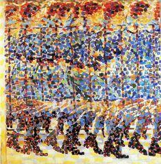 La décomposition Chronophotographique  Giacomo Balla -Jeune fille courant sur le balcon- 1912