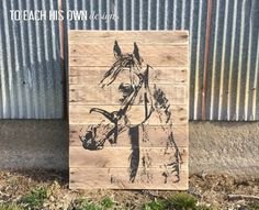 Horse Painting Wood Sign Pallet Sign Horse by ToEachHisOwnDesigns