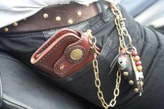Custom Wallet Biker Wallet Long Wallet by CultClassicLeather on Etsy