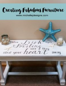 Creating_Fabulous_Furniture - www.michellejdesigns.com - I totally made over this piano bench using some General Finishes products. It turned out so nice that I almost didn't want to give it back to it's owner.