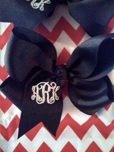 Monogrammed bow $5