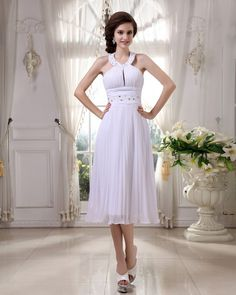 Halter Beading Pleated Evening Dress