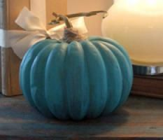 How to Make Awesome Turquoise or White Pumpkin Decorations
