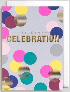 Buy Lagom Designs Time For Celebrations Congratulations Card from our Greetings Cards range at John Lewis & Partners. Lagom Design, Print Finishes, Book Design Layout, Birthday Design, Congratulations Card, Greeting Cards Handmade, Invitation Design, Design Reference, Screen Printing