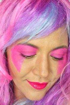 Jem Halloween Makeup Tutorial - Painted Ladies