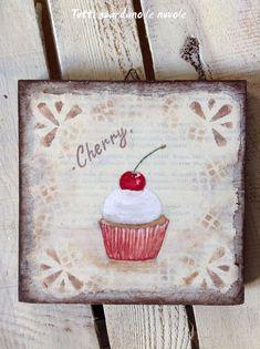 Tutti guardano le nuvole: Cupcakes dipinti