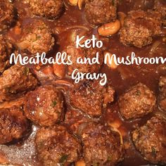 Meal Prep Monday- Meatballs and Mushroom Gravy  Recipe now on the blog at…