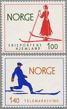 Norway Postal stamps 1975