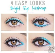 6. 4 Easy Eye Makeup #Looks - 42 Gorgeous Eye Makeup Looks to Try ... → #Beauty #Makeup