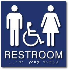 funny bathroom sign 8 1//2 X 10 RESTROOM SIGN Aluminum NEW An alien men women