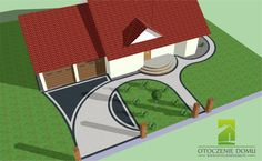 Driveway Design, Driveway Landscaping, Walkway, Concrete Path, Front Entrances, Galaxy Wallpaper, House Front, Garden Planning, Stairways