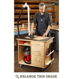 Sanding Center Cart Woodworking Plan, Shop Project Plan | WOOD Store