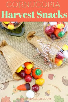 These harvest Cornucopia Treats are so simple from start, to finish, kids can do these. Classroom Approved for Holiday parties! Thanksgiving Cornucopia, Thanksgiving Snacks, Fall Snacks, Party Snacks, Team Snacks, Thanksgiving Preschool, Thanksgiving Celebration, Kid Snacks, Fall Treats