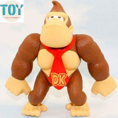 "Find More Action & Toy Figures Information about New 1 PCS Super Mario Bros Donkey Kong Monkey Action Figure Toys With Red Tie PVC Approx 6"" Anime Cartoon Kid Gift,High Quality toy soldier model figure,China toy jeep Suppliers, Cheap figure pvc from Toys in the Kingdom on Aliexpress.com"