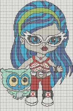 grilles point de croix et cie: Grille point de croix Monster High