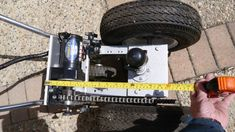 This trailer dolly is built using parts available at Princess Auto (in Canada) and probably Harbour Freight in the US. Parts list: 2000 lb ATV winch 16 tooth drive gear 54 tooth driven gear… Cargo Trailer Camper, Off Road Trailer, Car Trailer, Dump Trailers, Atv Winch, Trailer Dolly, Power Trailer, Boat Projects, Bricolage