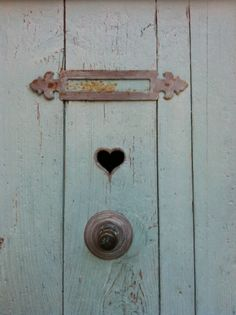 love hearts, exp. on this old door :)