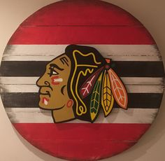 Chicago Blackhawks 3D Wood Sign, Hand Painted, Distressed by DMCdesignsShop on Etsy https://www.etsy.com/listing/527902703/chicago-blackhawks-3d-wood-sign-hand