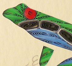 Quilled Tree Frog | QuillingbySandraWhite - Housewares on ArtFire