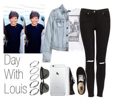 """Day With Louis"" by the4dipshits ❤ liked on Polyvore featuring Topshop, H&M, Vans, Ray-Ban and ASOS"